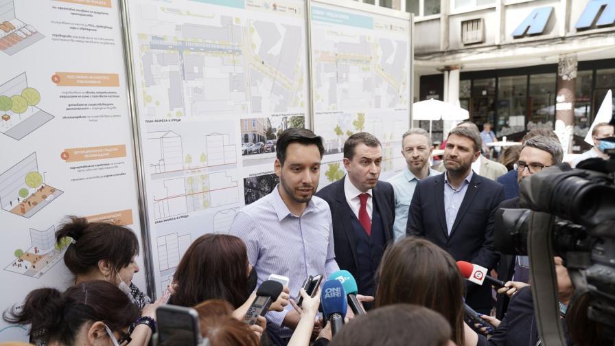 Нова пешеходна зона в центъра на София