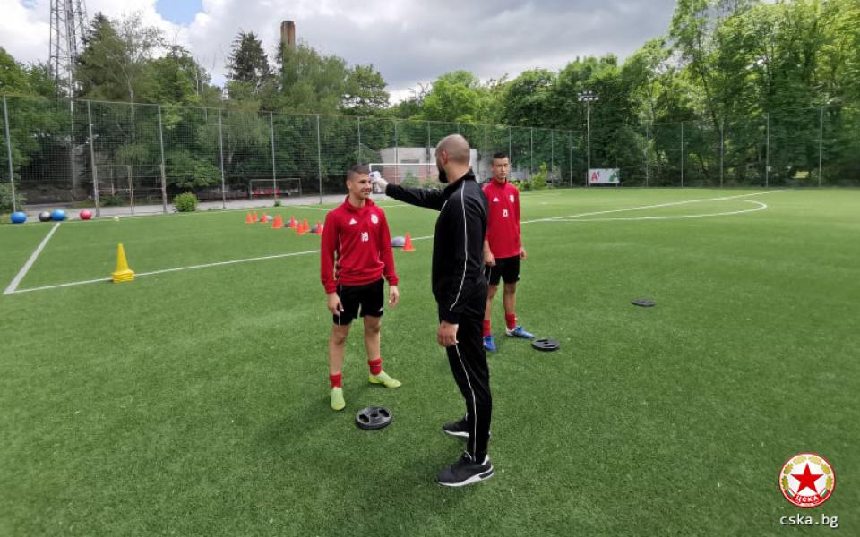 Днес младите таланти от Академия ЦСКА подновиха тренировки след близо