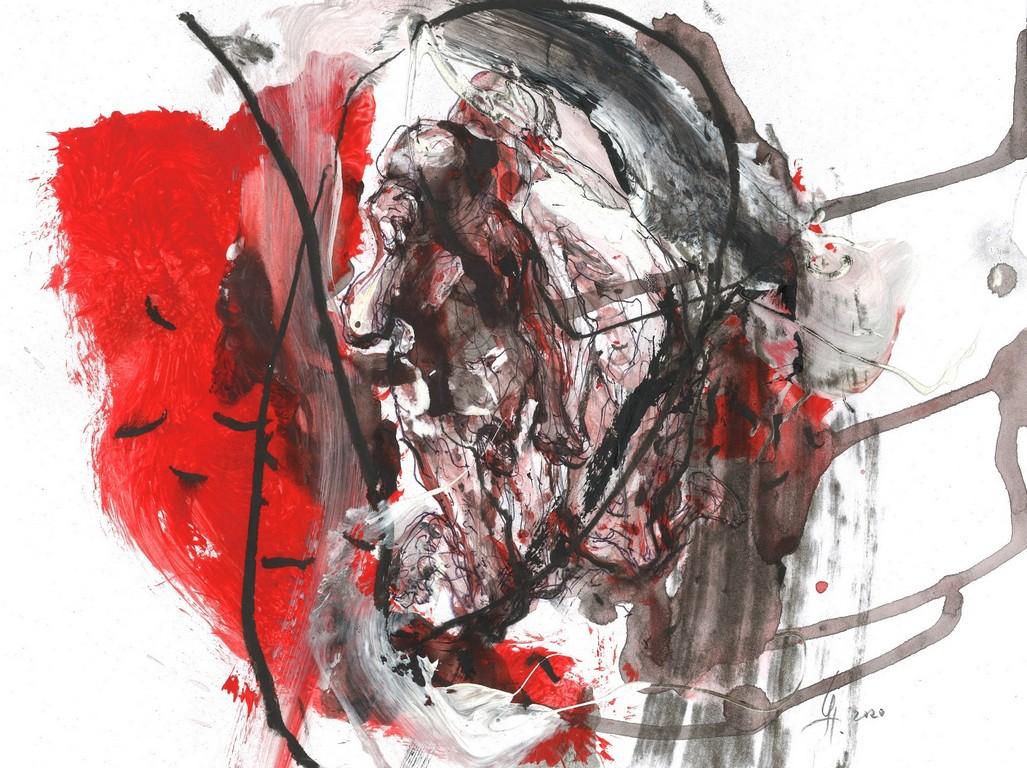 <p>Рисунки създадени в&nbsp; ситуация, в която психичната среда е натоварена от екзистенциални напрежения и есхатологични предчувствия, от изплували атавистични и архетипни сенки.</p>