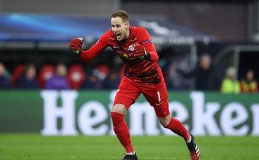 Вратарят на Лайпциг с втора асистенция за сезона
