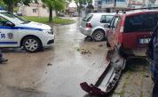 Каскада във Варна, шофьор помете коли и блъсна пешеходка (Видео)