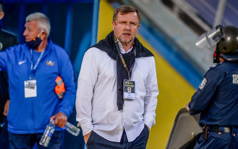 Наставникът на Лудогорец - Павел Върба, е безпощаден към футболистите