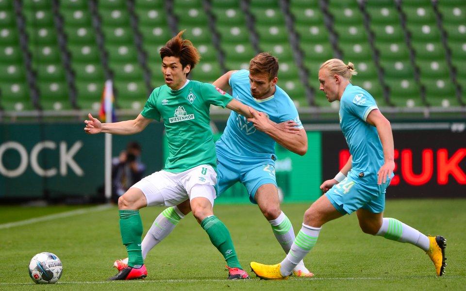 Отборът на Волфсбург победи с минималното 1:0 Вердер Бремен като