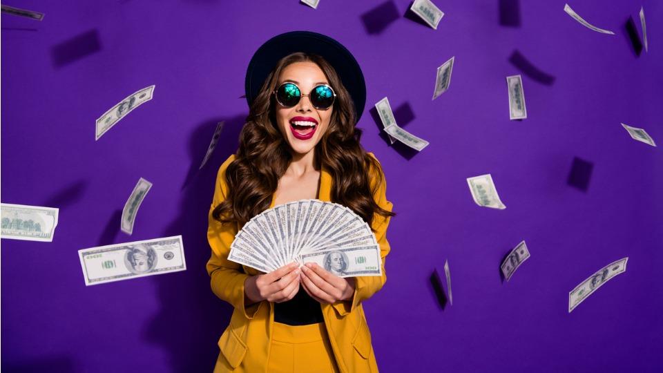 пари жена щастие джакпот