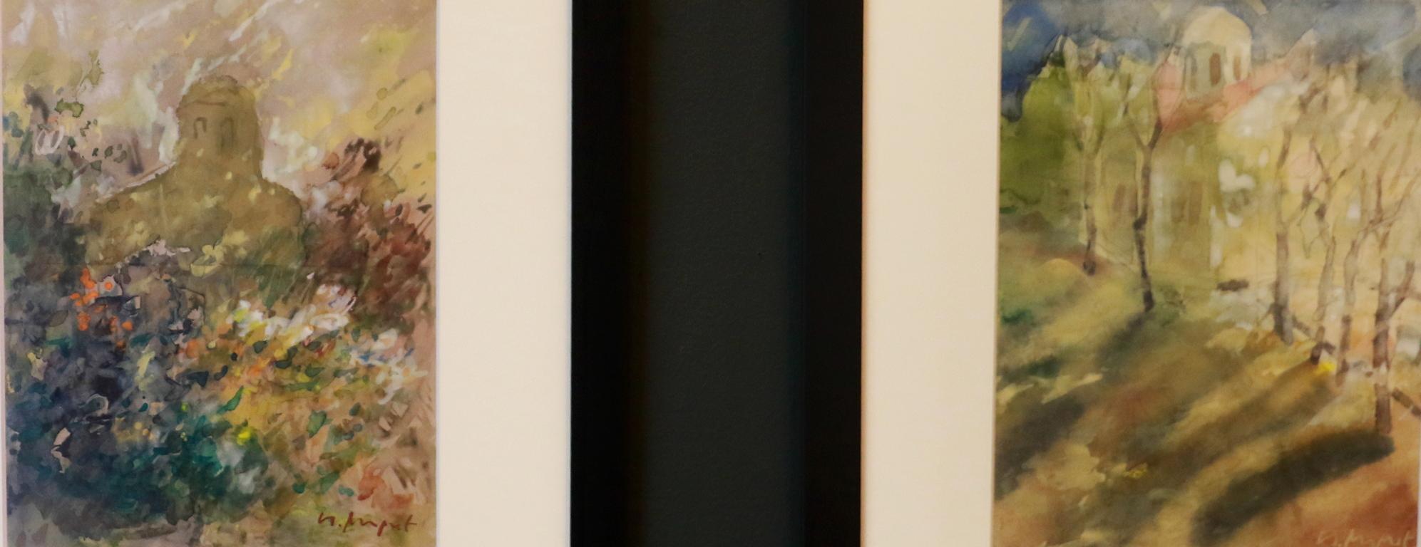 <p>Манастир 3, Манастир 2, акварел на хартия</p>  <p>През 1985 г. е удостоен с наградата за пластични изкуства &bdquo;Южна пролет&ldquo;, Лауреат е на голямата награда на Националната младежка изложба през 1986, носител на Националната награда за живопис &bdquo;Владимир Димитров-Майстора&ldquo; през 2014.</p>