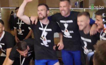 Страхотната радост на футболистите на Локо Пд от спечелената купа