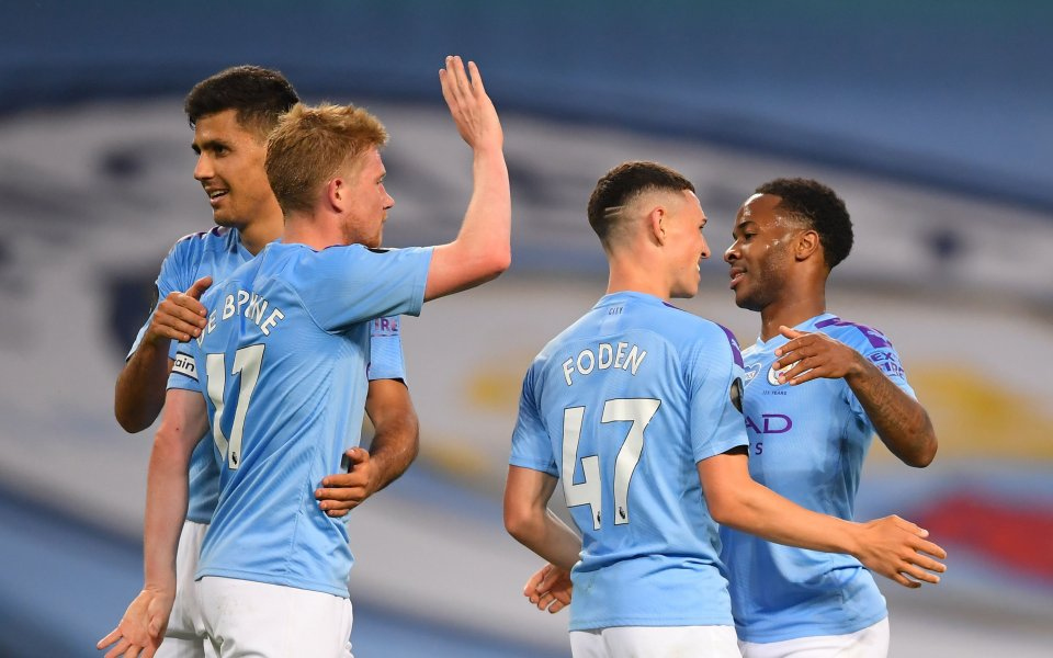 Отборът на Манчестър Сити постигна доста изразителна победа над новияшампион