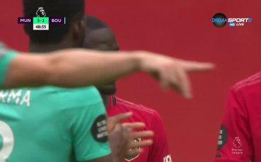 Борнемут се върна в играта срещу Юнайтед