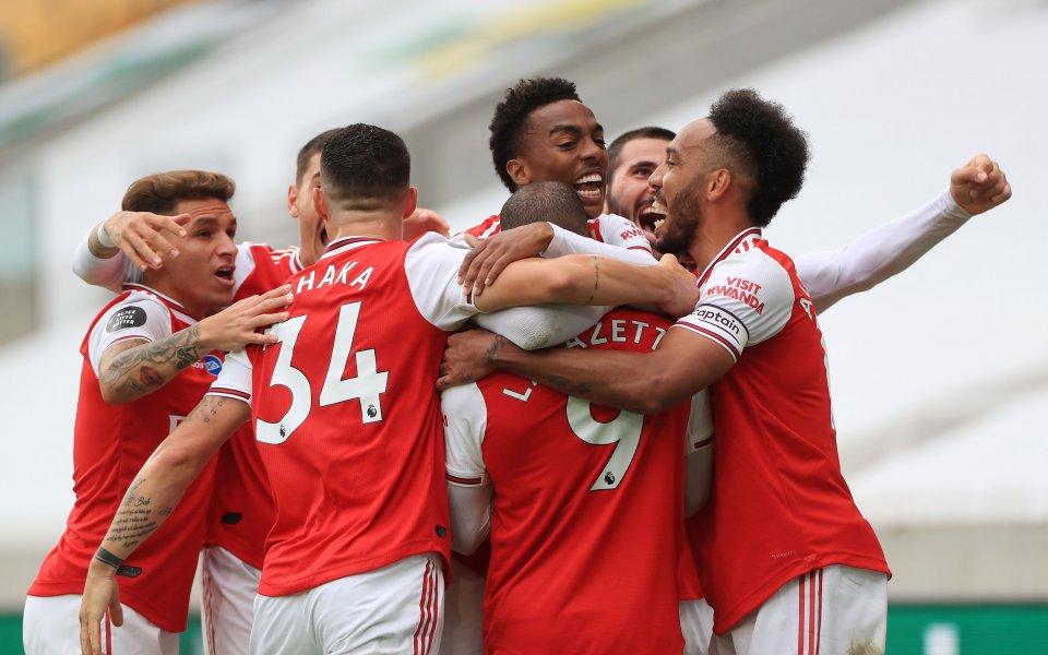 Отборът на Арсенал, донякъде изненадващо, надви с 2:0 Уулвърхемптън като