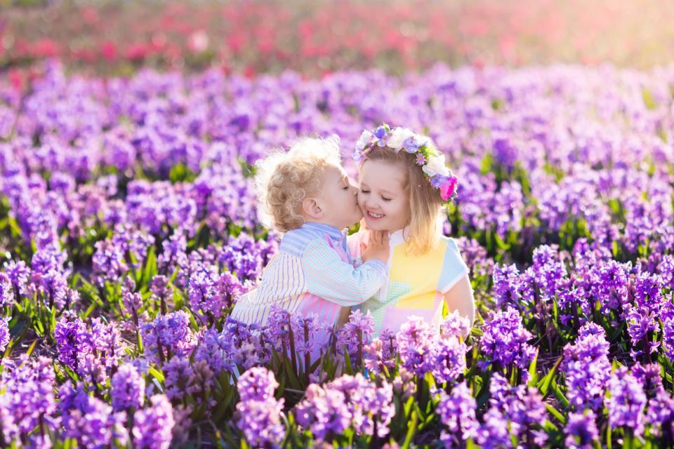 деца цветя
