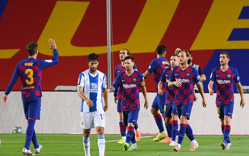 Отборите на Барселона и Еспаньол играят при 1:0 в дерби