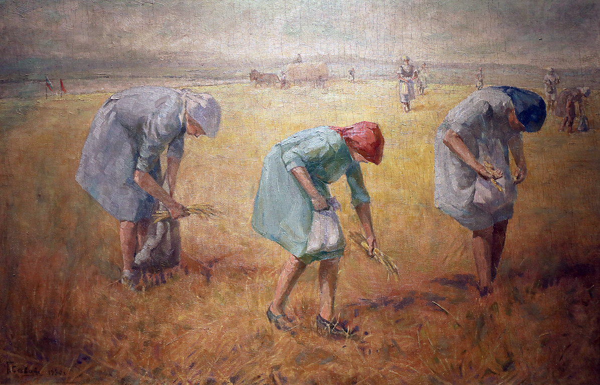 <p>Григор (Гочо) Савов (1880 - 1966)</p>  <p>Жътва маслени бои, шперплат</p>