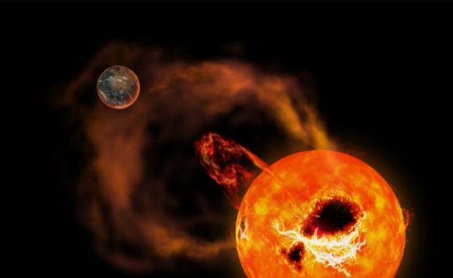 Учени засякоха гигантски изригвания от близка звезда