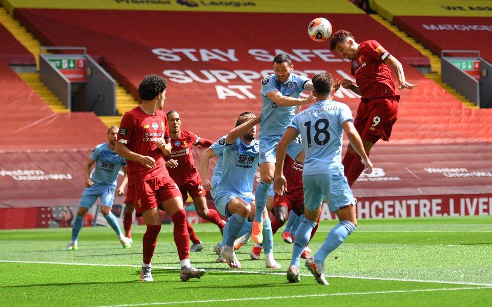 Отборите на Ливърпул и Бърнли играят при резултат 0:0 в