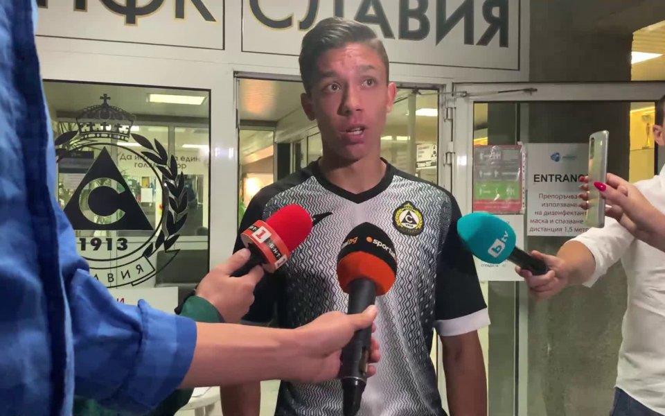 Играчът на мача Славия - Лудогорец Филип Кръстев заяви, че