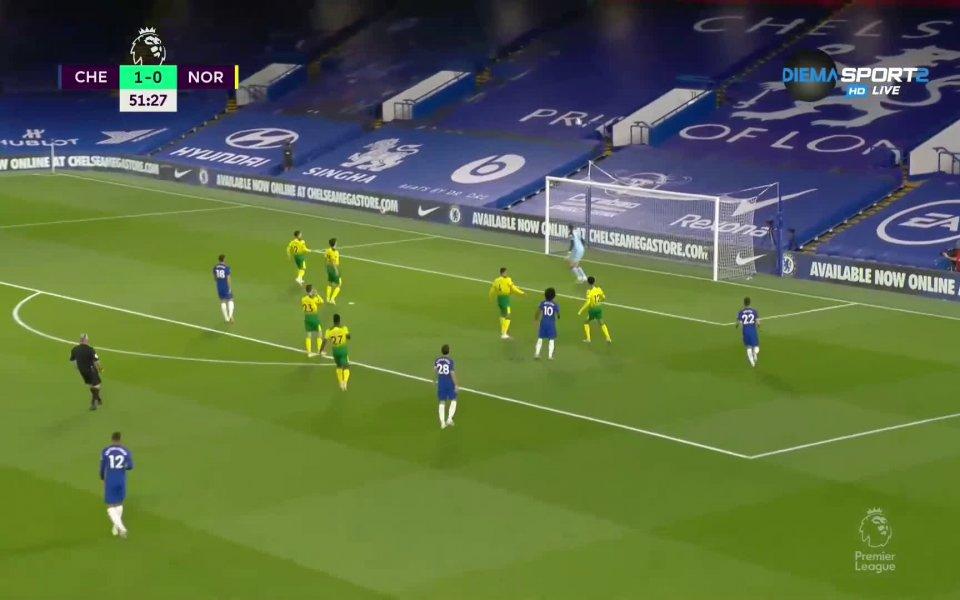 """Челси победи Норич с 1:0 на """"Стамфорд Бридж"""" в мач"""