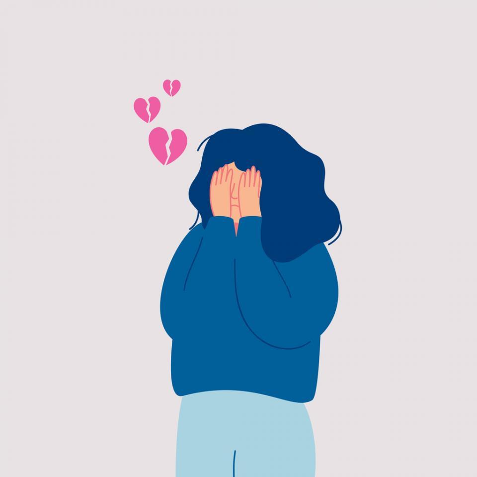 жена тъга тъжна любов
