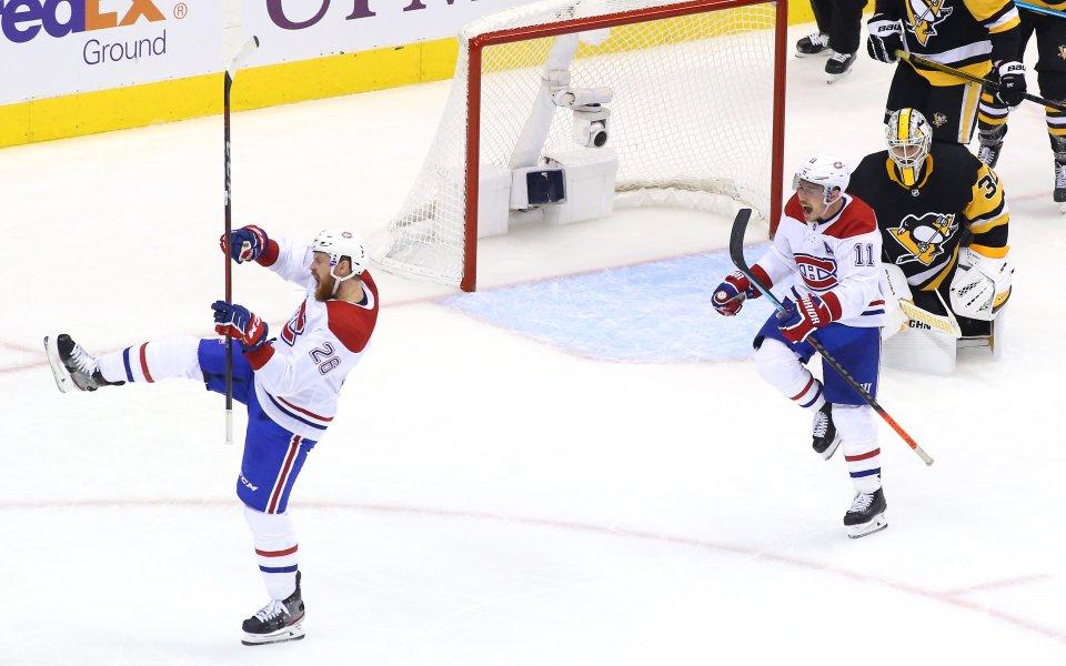 Монреал взе аванс срещу Питсбърг с драматична победа с продължение при рестарта на сезона в НХЛ