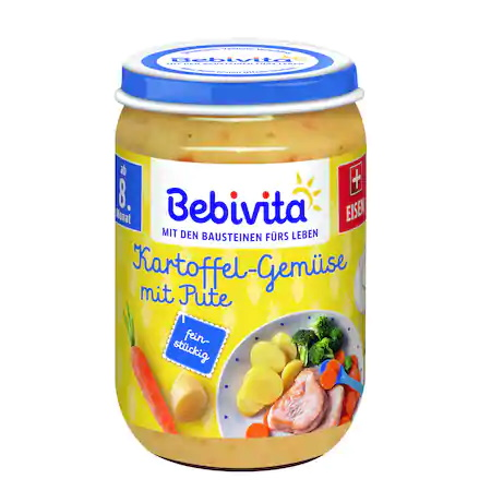 Пюре Bebivita, Картофи и зеленчуци с пуешко месо, 220г