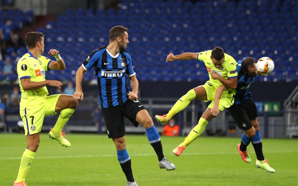 Отборите на Интер и Хетафе играят при резултат 0:0 в