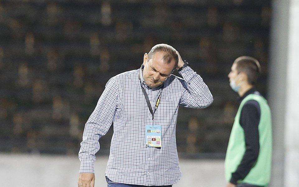 Треньорът на Славия Златомир Загорчич остана много недоволен от крайният
