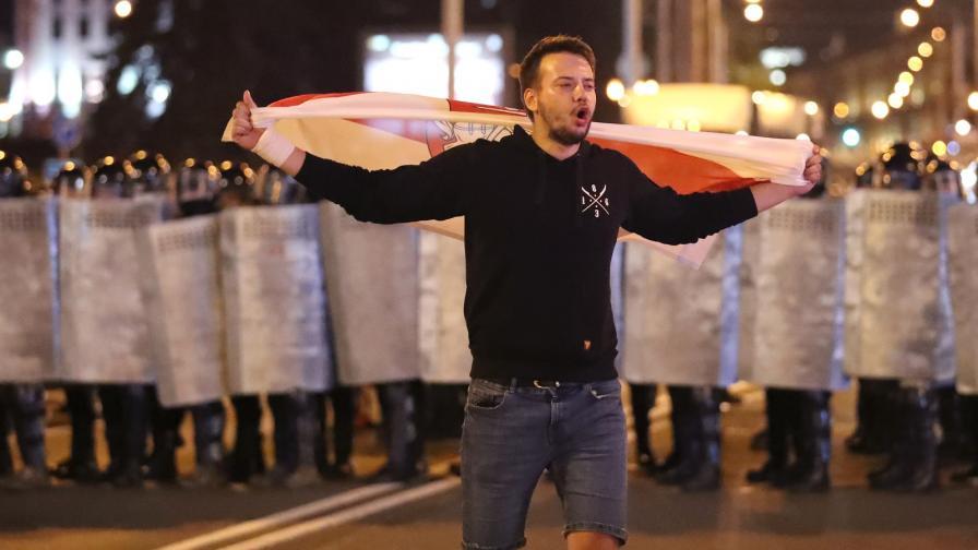 Протести и сблъсъци в Беларус след победа на Лукашенко