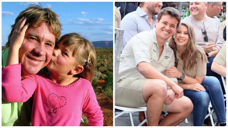 Вижте как порасналата дъщеря на Ловеца на крокодили Стив Ъруин почете паметта му на сватбата си