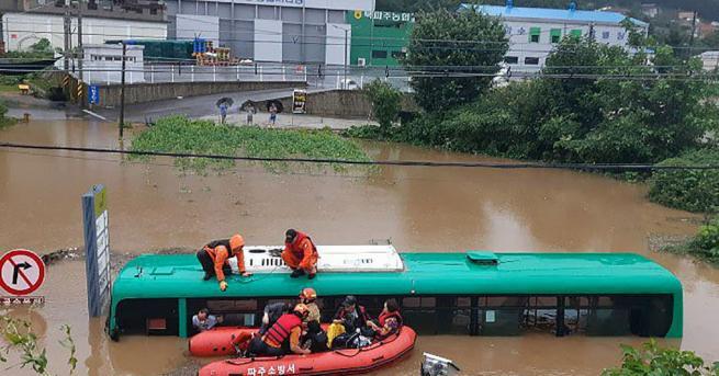 Свят Силни дъждове в Южна Корея, повече от 30 загинали