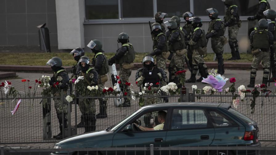 <p>Насилие срещу протестиращите в Беларус</p>