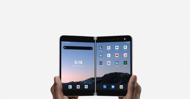 Технологии Microsoft пуска своя Android телефон през септември Surface Duo