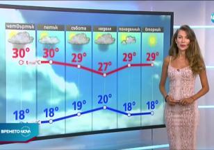Прогноза за времето (13.08.2020 - следобедна емисия)