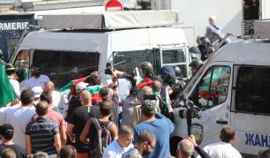 Осем задържани на протеста, сред тях и Големия Дамбовец