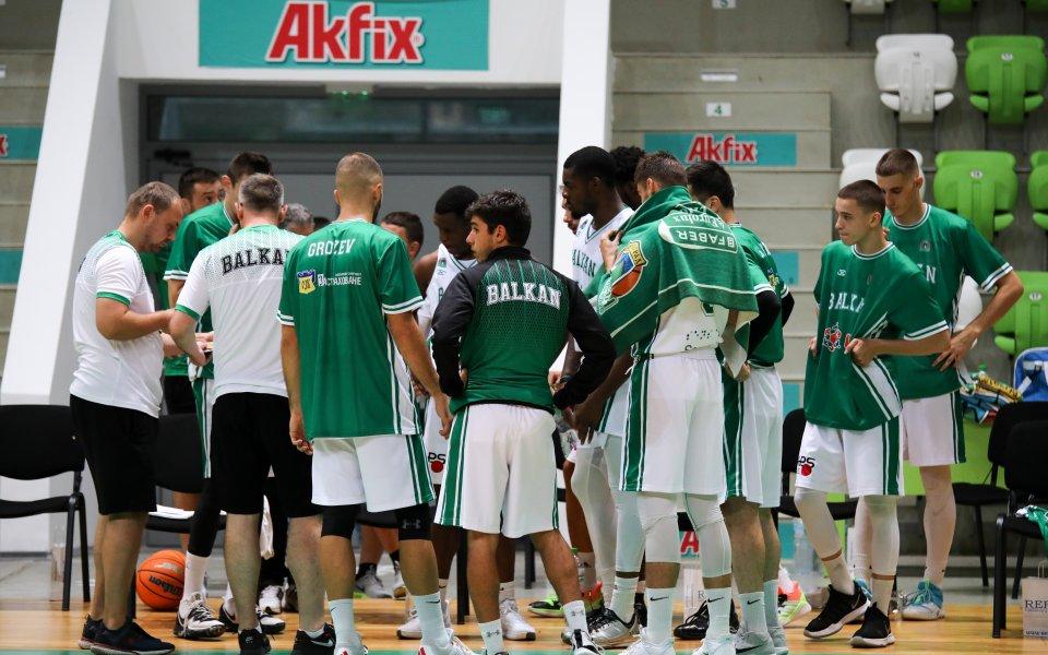 Отборът на Балкан загуби от шампиона на Беларус Цмоки-Минск с