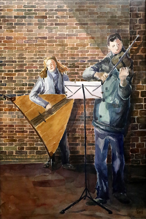 <p>Амстердам &ndash;&bdquo;Уличен Оркестър 2 /акварел/</p>