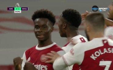 Младок вкара безценен гол за Арсенал