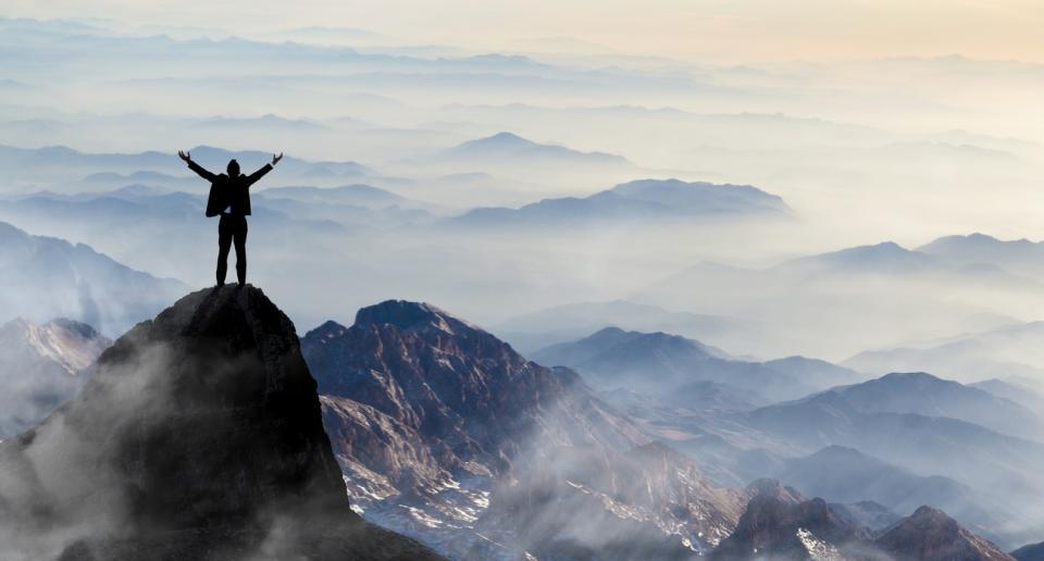 мъж планина свобода независимост