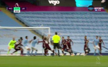 Аке вкара първия си гол за Сити