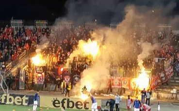 Феновете на ЦСКА с огнена подкрепа в Пловдив