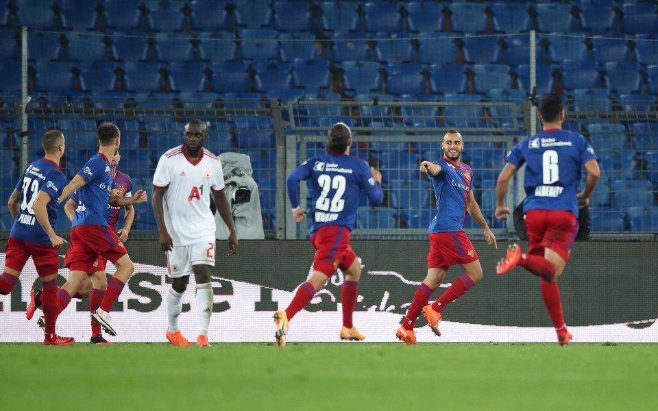 Отборът на Базел води с 1:1 на ЦСКА в решаващ