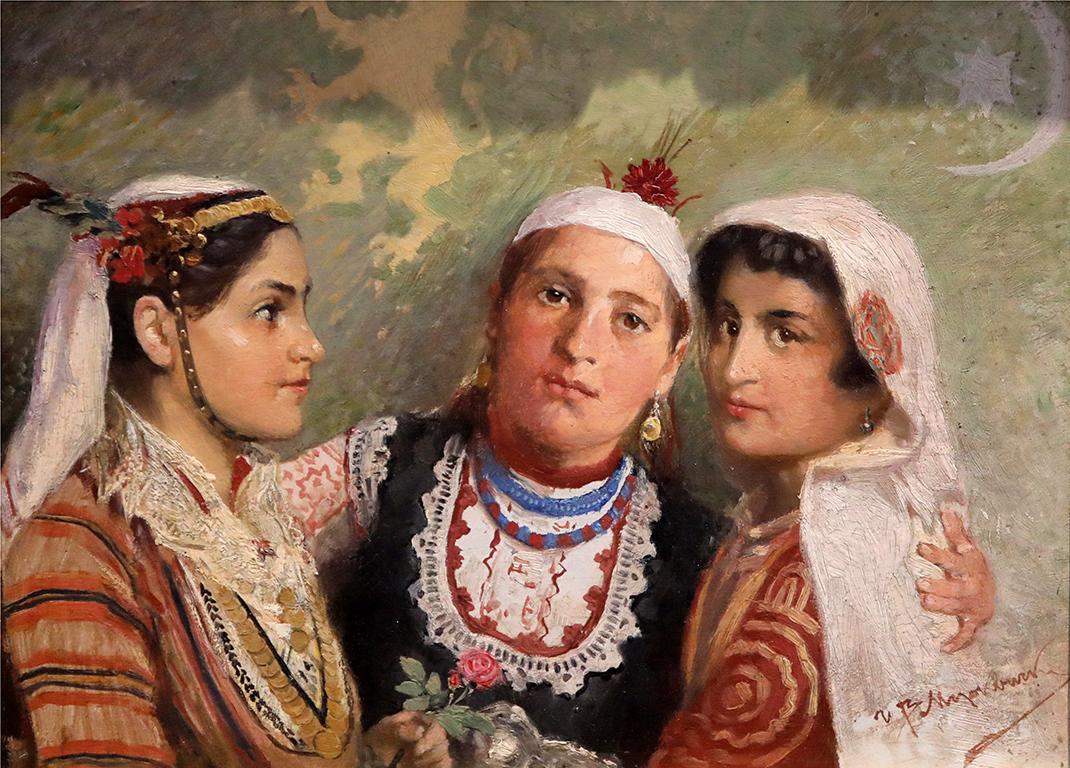 <p>Иван Мърквичка, Три сестри (Мизия, Тракия и Македония) 1915 г.</p>