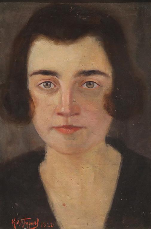 <p>Константин (Кочо) Гърнев, Дамски портрет 1922 г.</p>