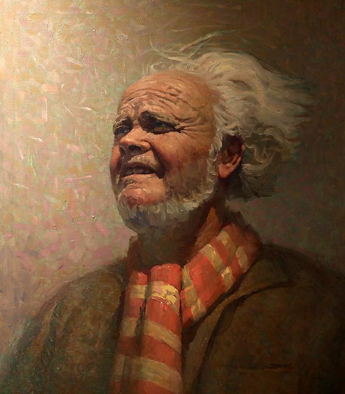 <p>Никола Вълчев, Портрет на художника Стоян Венев 1974 г.</p>