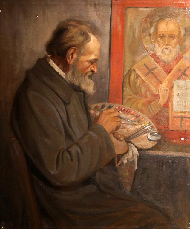 <p>Никола Костов Андонов, Художникът Александър Маринов 1930 г.</p>