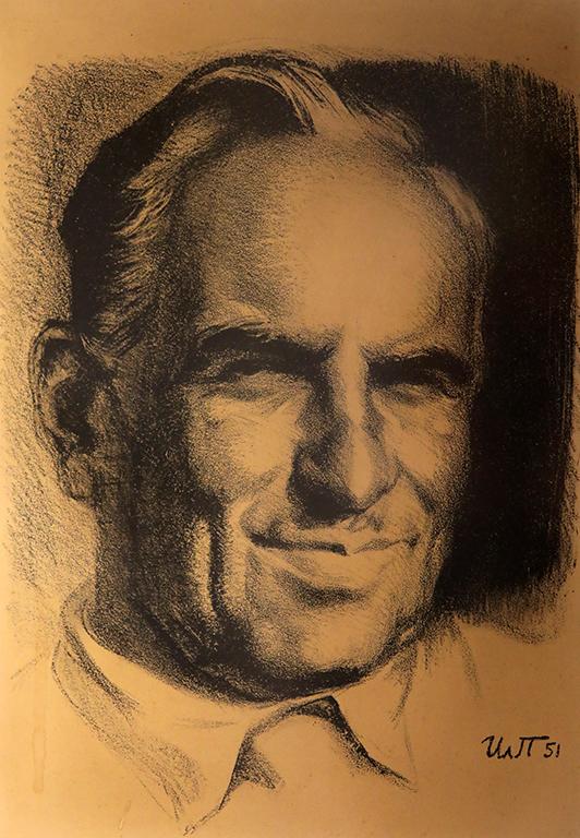 <p>Илия Петров, Портрет на Елин Пелин 1951 г.</p>