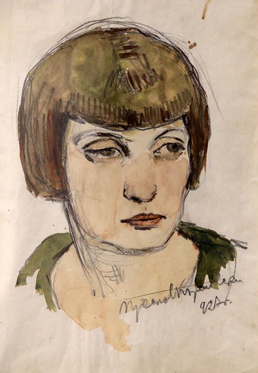<p>Преслав Кършовски, Портрет на Мария Стоилова 1927 г.</p>