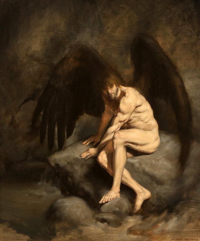 <p>Паднал ангел, маслени бои/платно Fallen Angel, oil paint on canvas</p>
