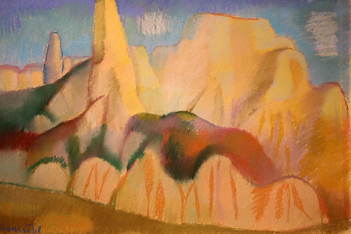 <p>Александър Петров &ndash; Лавандулата (1916 &ndash; 1983)</p>  <p>Край Мелник, 60-те г. на ХХ в. сух пастел, хартия</p>