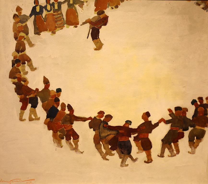 <p>Иван Пенков (1877 &ndash; 1957)</p>  <p>Хоро, 1927 гваш, картон</p>