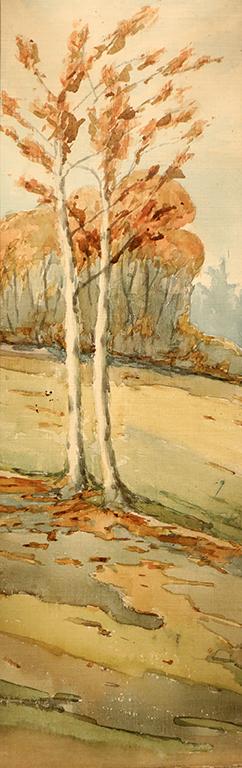 <p>Димо Сотиров (1880 &ndash; 1952)</p>  <p>Дървета, 1921 акварел, хартия</p>