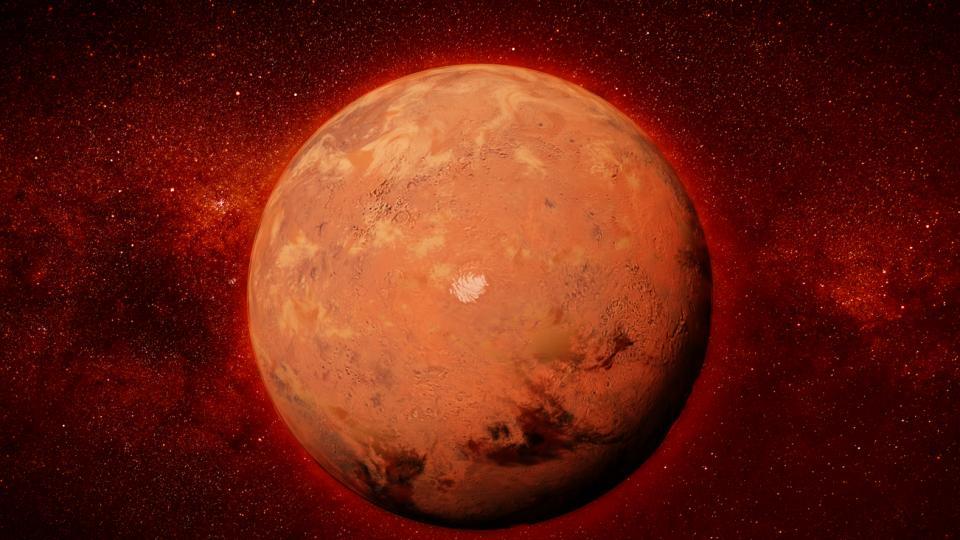 планета марс космос звезди